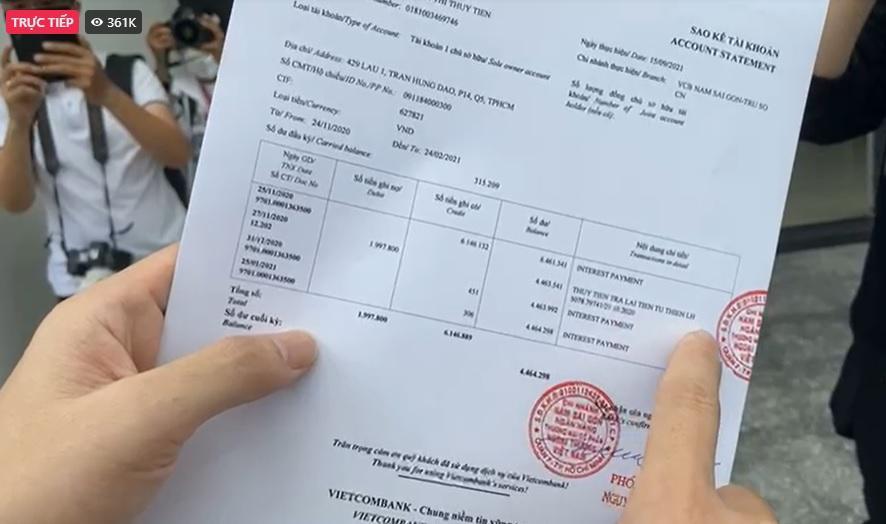 Thủy Tiên công khai sao kê tại ngân hàng: Đúng 177 tỷ đồng-16