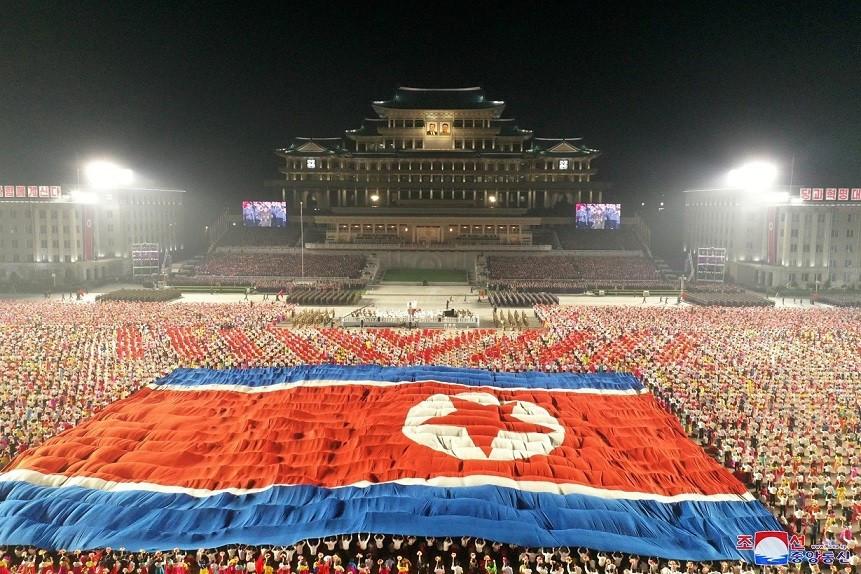 Quảng trường Kim Nhật Thành trong lễ duyệt binh ngày 9/9, kỷ niệm 73 năm quốc khánh Triều Tiên. (Nguồn: Reuters)