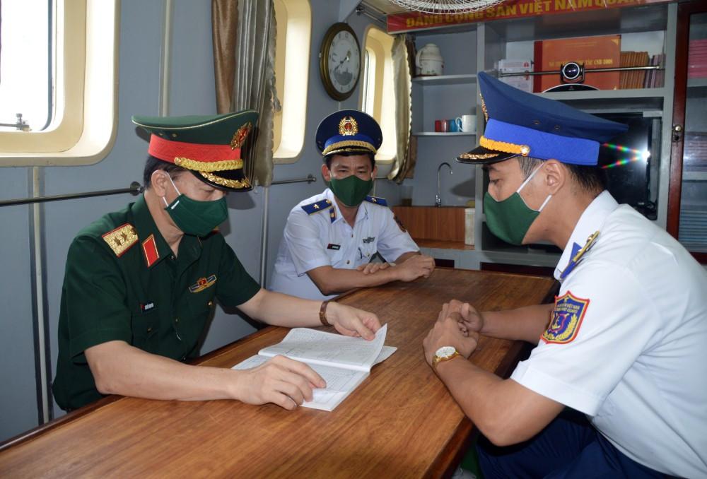 Bộ Tổng Tham mưu QĐNDVN kiểm tra tại Bộ Tư lệnh Vùng Cảnh sát biển 1