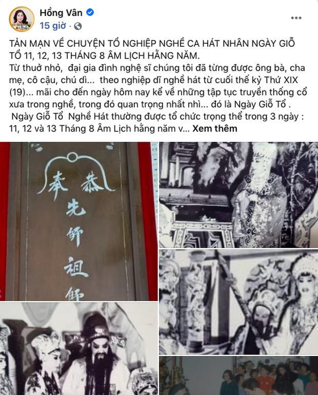 Hồng Vân bị khui lùm xùm quảng cáo đúng ngày Giỗ tổ sân khấu-1