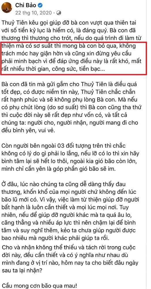 Chi Bảo: Đừng yêu cầu Thủy Tiên minh bạch-4