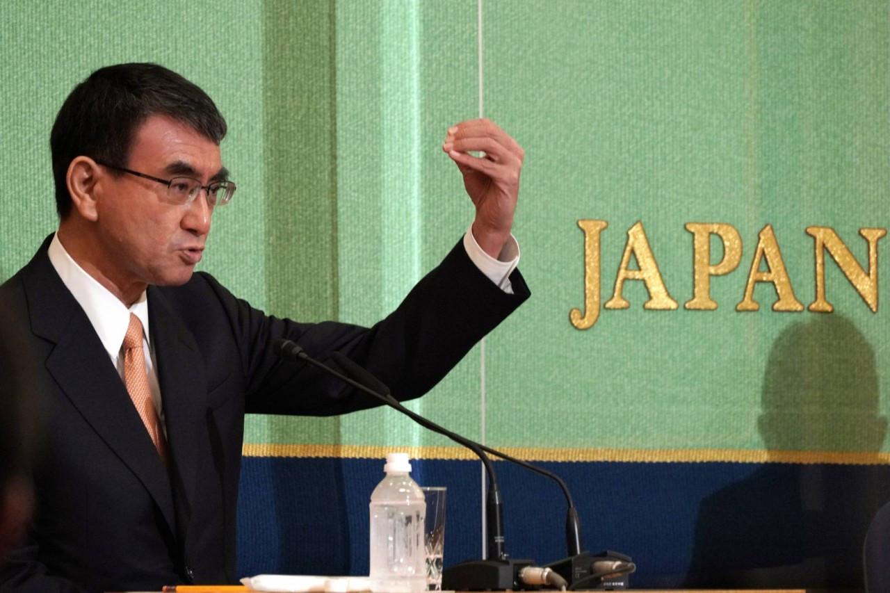 Bộ trưởng Cải cách hành chính Nhật Bản Taro Kono. (Nguồn: AP)