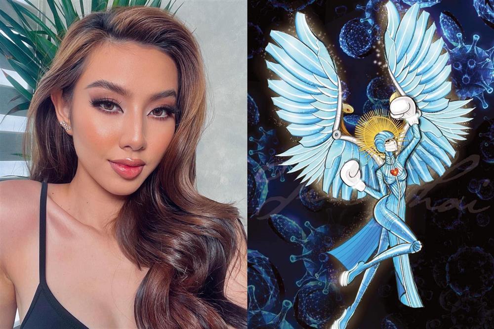Hé lộ bản vẽ Quốc phục của Thùy Tiên dự thi Miss Grand 2021-4