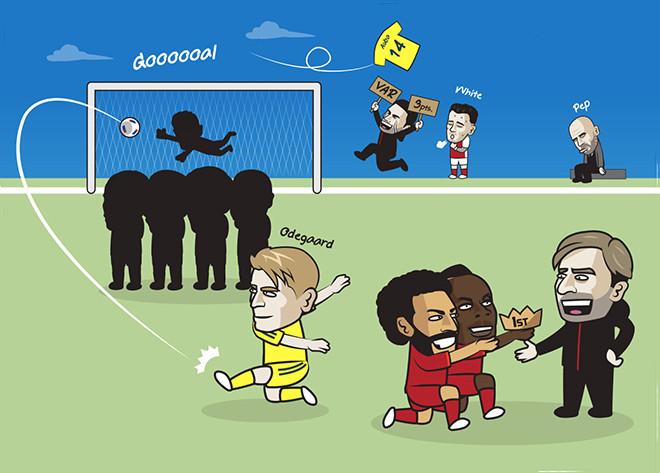 Ảnh chế: Liverpool leo lên ngôi đầu, Arsenal tiếp tục thắng khiến fan mơ tưởng - 1