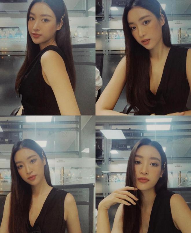 Hoa hậu Đỗ Thị Hà - Lương Thuỳ Linh đọ sắc quyến rũ với váy trễ vai - 6