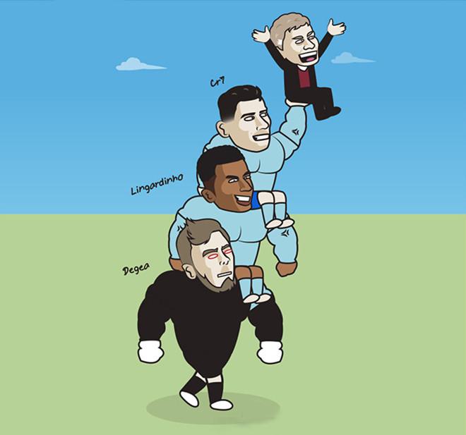 Ảnh vui: Ronaldo tỏa sáng,