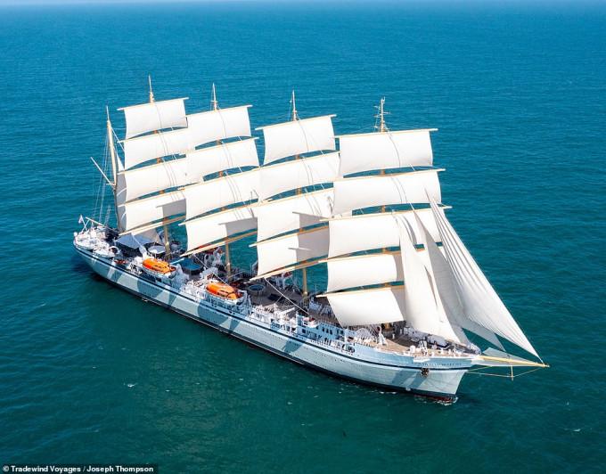 Du lịch trên thuyền buồm lớn nhất thế giới Golden Horizon - 1