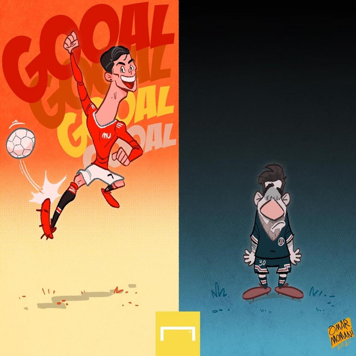 Ronaldo khiến Messi phải chịu áp lực ngàn cân. (Ảnh: Omar Momani)