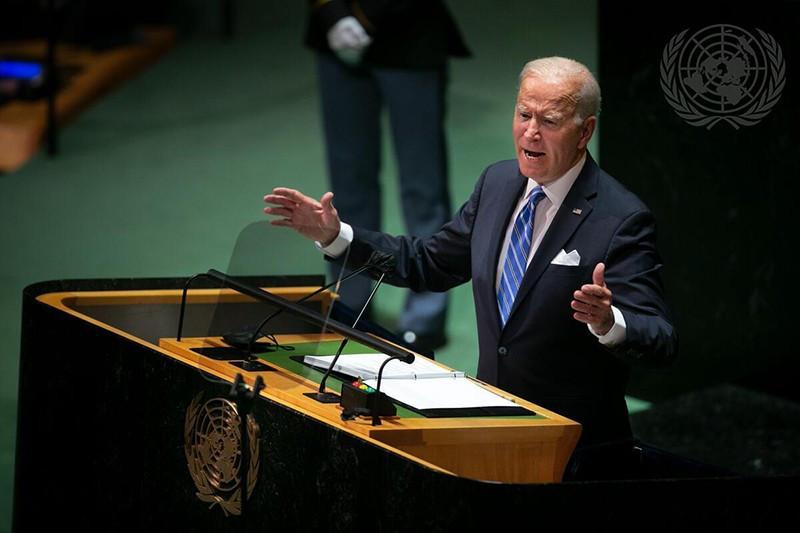 Tổng thống Mỹ Joe Biden phát biểu tại khoá họp Đại hội đồng Liên hợp quốc. (Nguồn: UN)