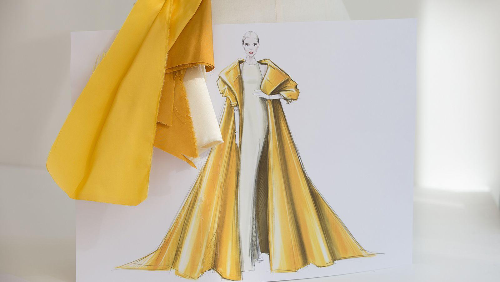 Ngắm bản vẽ trang phục của Anya Taylor-Joy tại giải Emmy - 3