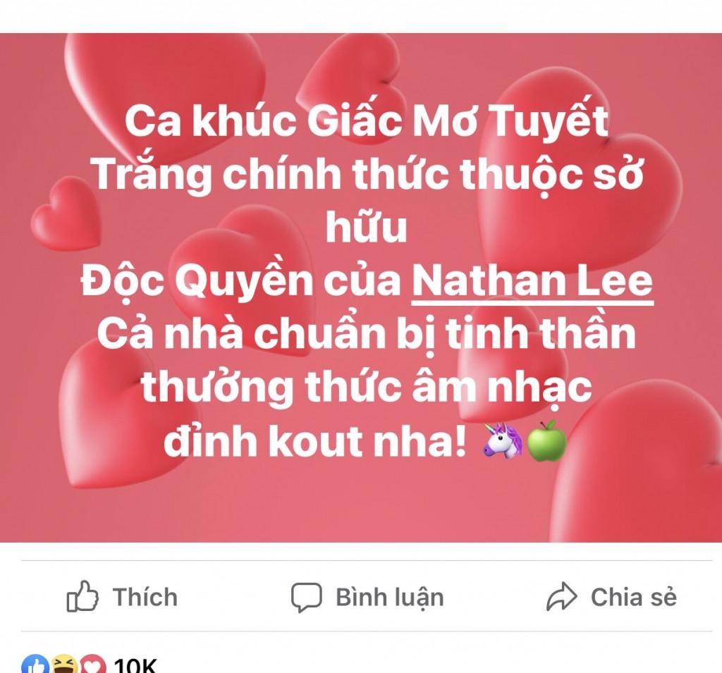 Nathan Lee mua độc quyền hit làm nên tên tuổi của Thủy Tiên