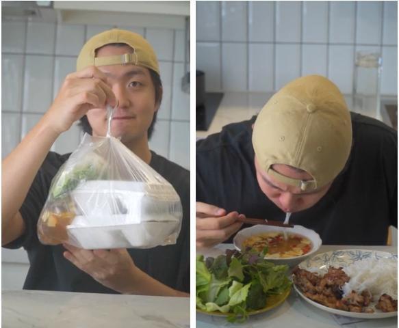 Ăn lại bún chả Hà Nội sau giãn cách, trai Hàn phản ứng mãnh liệt-2