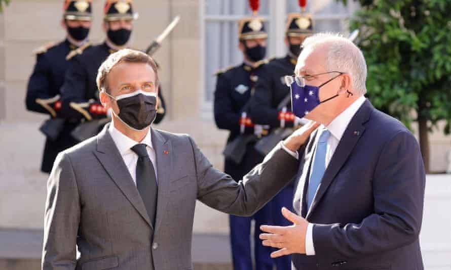 Thủ tướng Australia Scott Morrison tuyên bố ông đã nỗ lực sắp xếp một cuộc thảo luận với Tổng thống Pháp Emmanuel Macron. (Nguồn: Reuters)