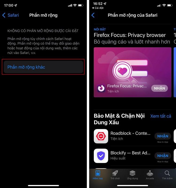 Hướng dẫn cài extension Safari trên iOS 15