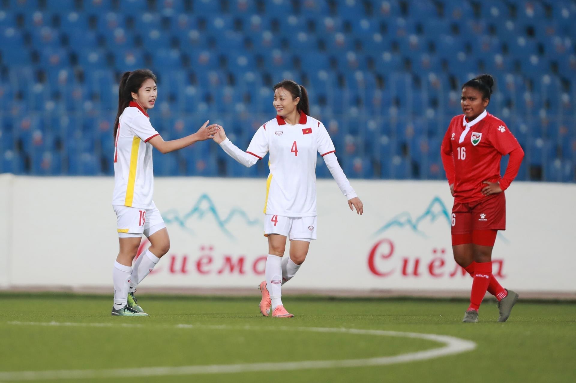 Tuyển nữ Việt Nam thắng 16-0 trận mở màn vòng loại Asian Cup 2022 - 1