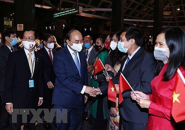 Chủ tịch nước Nguyễn Xuân Phúc gặp mặt kiều bào Việt Nam tại Hoa Kỳ   Chính trị   Vietnam+ (VietnamPlus)