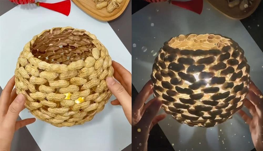 Ăn lạc xong đừng vứt vỏ đi, mẹ không cần khéo tay cũng có thể làm cho con chiếc đèn ngủ handmade phong cách retro xịn sò này-2