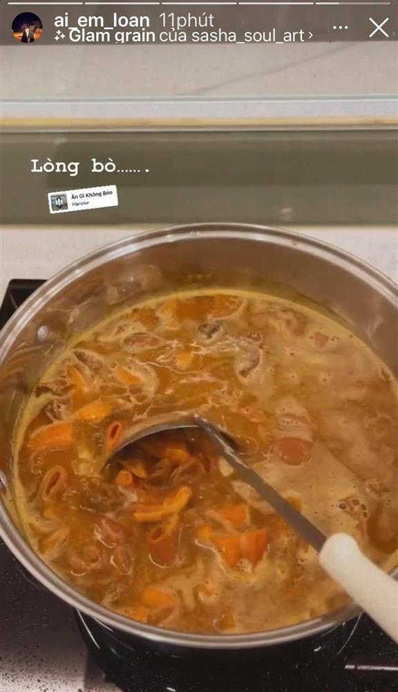 Bà bầu quý tộc Lê Loan ở cữ nhưng ăn uống cực thoải mái, có món khiến ai cũng giật mình-6
