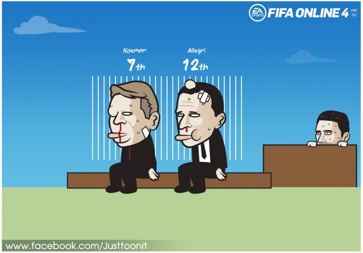 Dẫu sao Barca vẫn còn Juventus bầu bạn trong cơn khủng hoảng. (Ảnh: Just Toon It)
