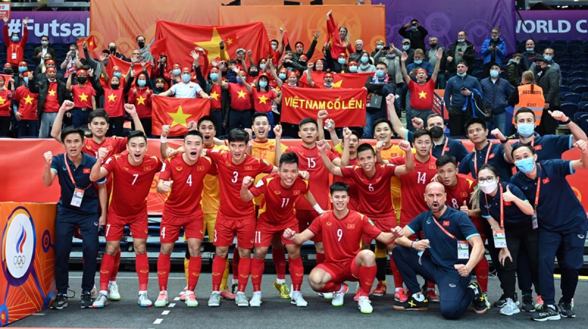 ĐT Futsal Việt Nam đã tạo ra màn trình diễn đầy cảm xúc tại Futsal World Cup 2021. (Ảnh: VFF)