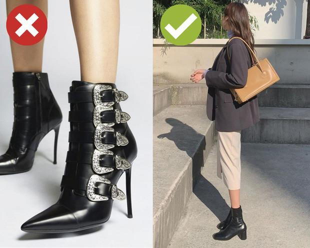 Boots siêu cao không chỉ đau chân mà còn càng làm lộ nhược điểm đôi chân