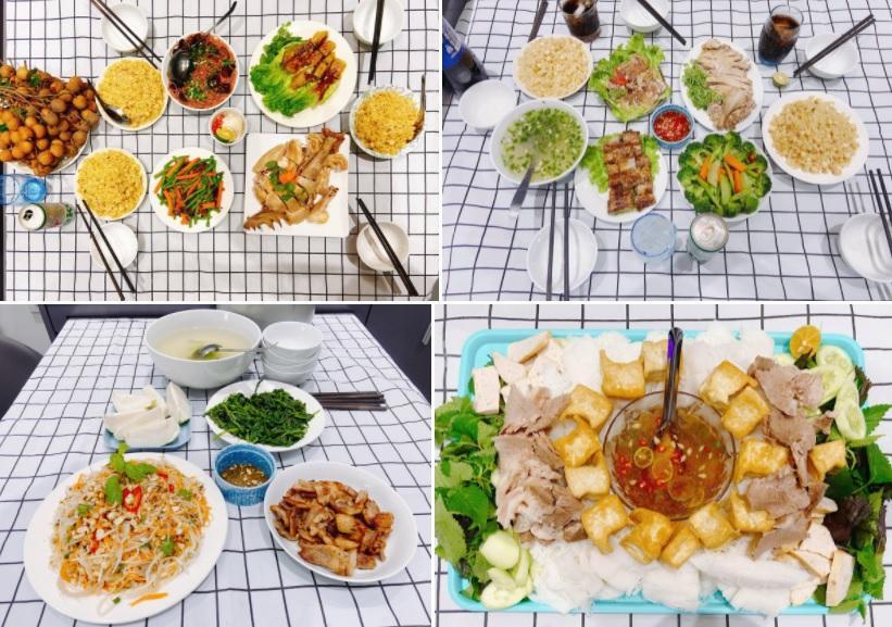 Chồng nấu cơm cữ cho vợ trong dịch, 30 ngày không trùng bữa-1