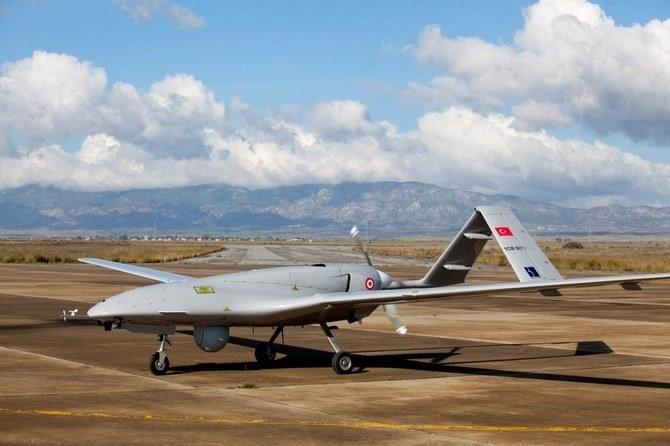 Hình ảnh một chiếc máy bay chiến đấu UAV Bayraktar TB2 của Thổ Nhĩ Kỳ được chụp năm 2019. (Nguồn: AFP)