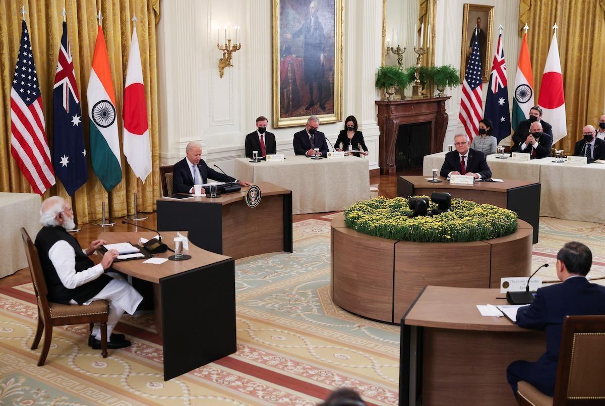 Các nhà lãnh đạo nhóm Bộ tứ tại Hội nghị thượng đỉnh được tổ chức ở Washington, Mỹ, ngày 24/9. (Nguồn: Reuters)