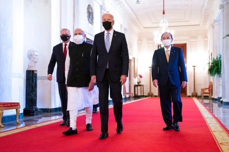 Lãnh đạo các nước thuộc nhóm Bộ tứ. (Nguồn: AP)