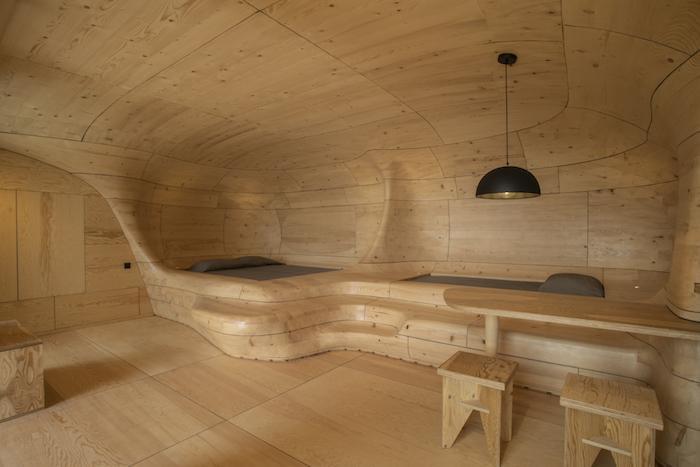 'Mục sở thị' Hyades Mountain Resort, khách sạn trong hang làm từ 1000 mảnh gỗ ở Hy Lạp - 4