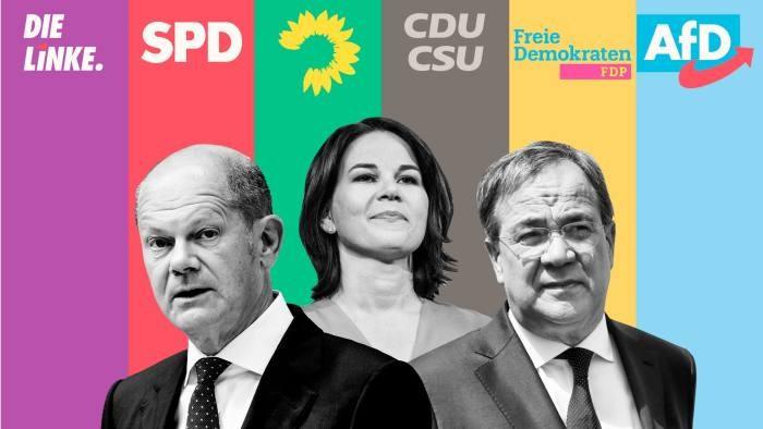 Kết quả sơ bộ bầu cử Đức: SPD tạm đánh bại Liên minh của Thủ tướng Merkel; bóng gió về chính phủ tương lai. (Nguồn: Financial Times)