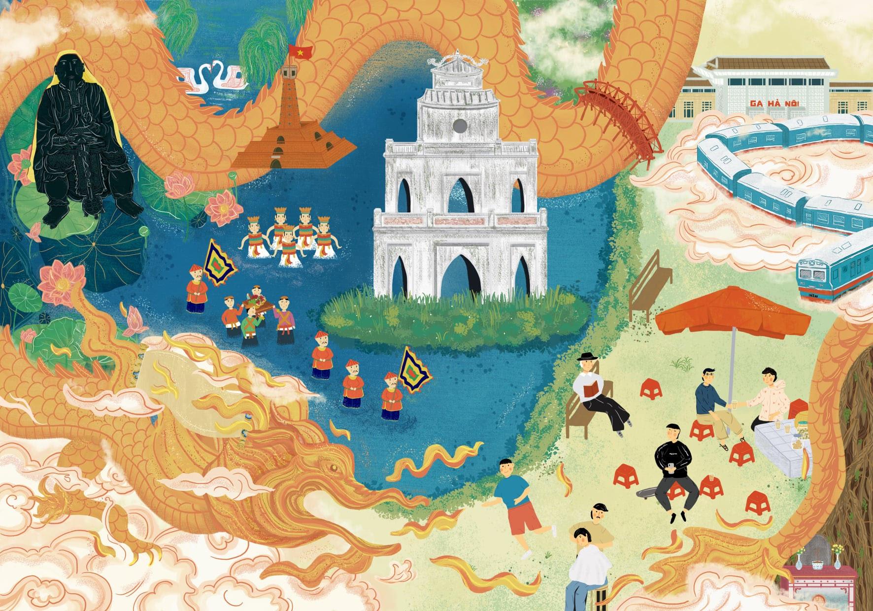Hà Nội 'lạ mà quen' qua tranh của những họa sĩ trẻ - 17