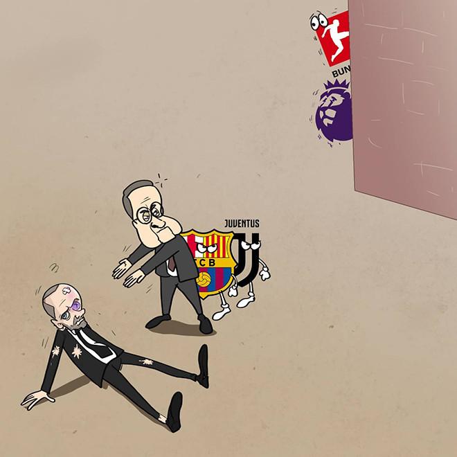 Ảnh chế: Real cùng Barca, Juventus giành chiến thắng trước UEFA - 2