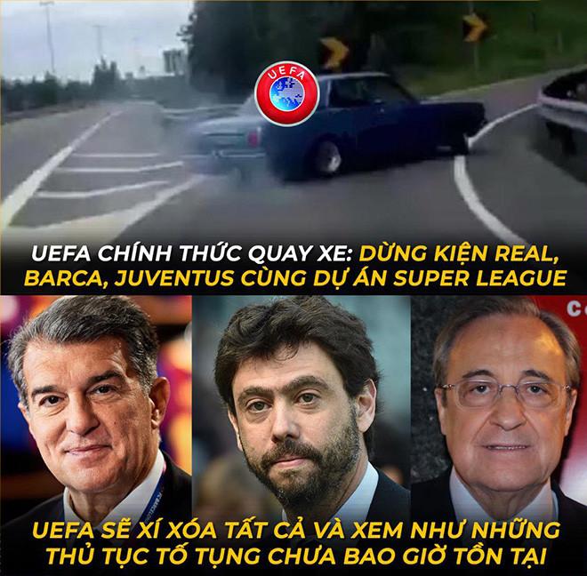 Ảnh chế: Real cùng Barca, Juventus giành chiến thắng trước UEFA - 3