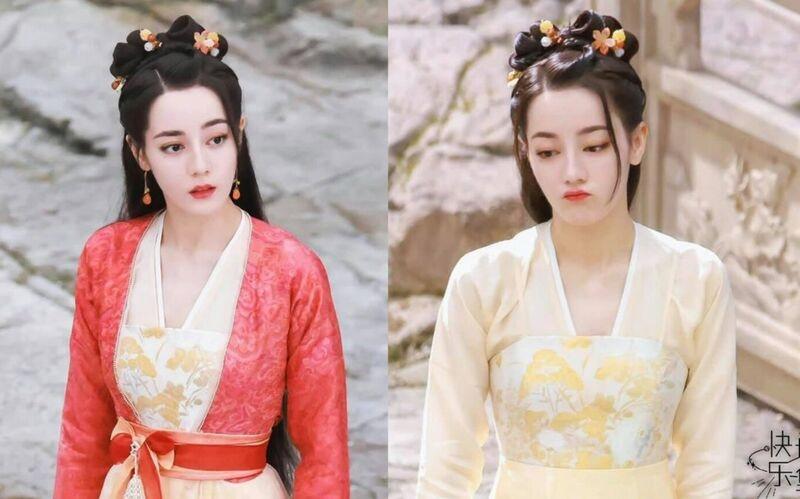 Phim trường 'An Lạc Truyện': Lưu Vũ Ninh và Địch Lệ Nhiệt Ba song kiếm hợp bích, trổ tài 'vợt muỗi'