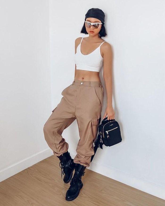 Chi Pu khoe thời trang đỉnh cao ở Mỹ - Miu Lê táo bạo không mặc quần-3