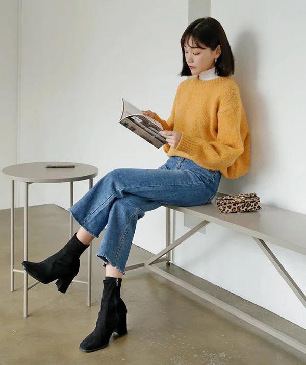 Phối đồ với boots cổ lửng chuẩn chỉnh như fashionista-2