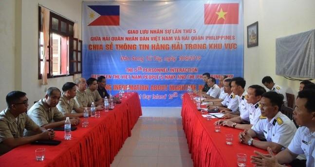 Giao lưu nhân sự lần thứ 5 giữa Hải quân Việt Nam và Hải quân Philippines, ngày 10/9/2019. (Nguồn: Báo Hải quân Việt Nam)