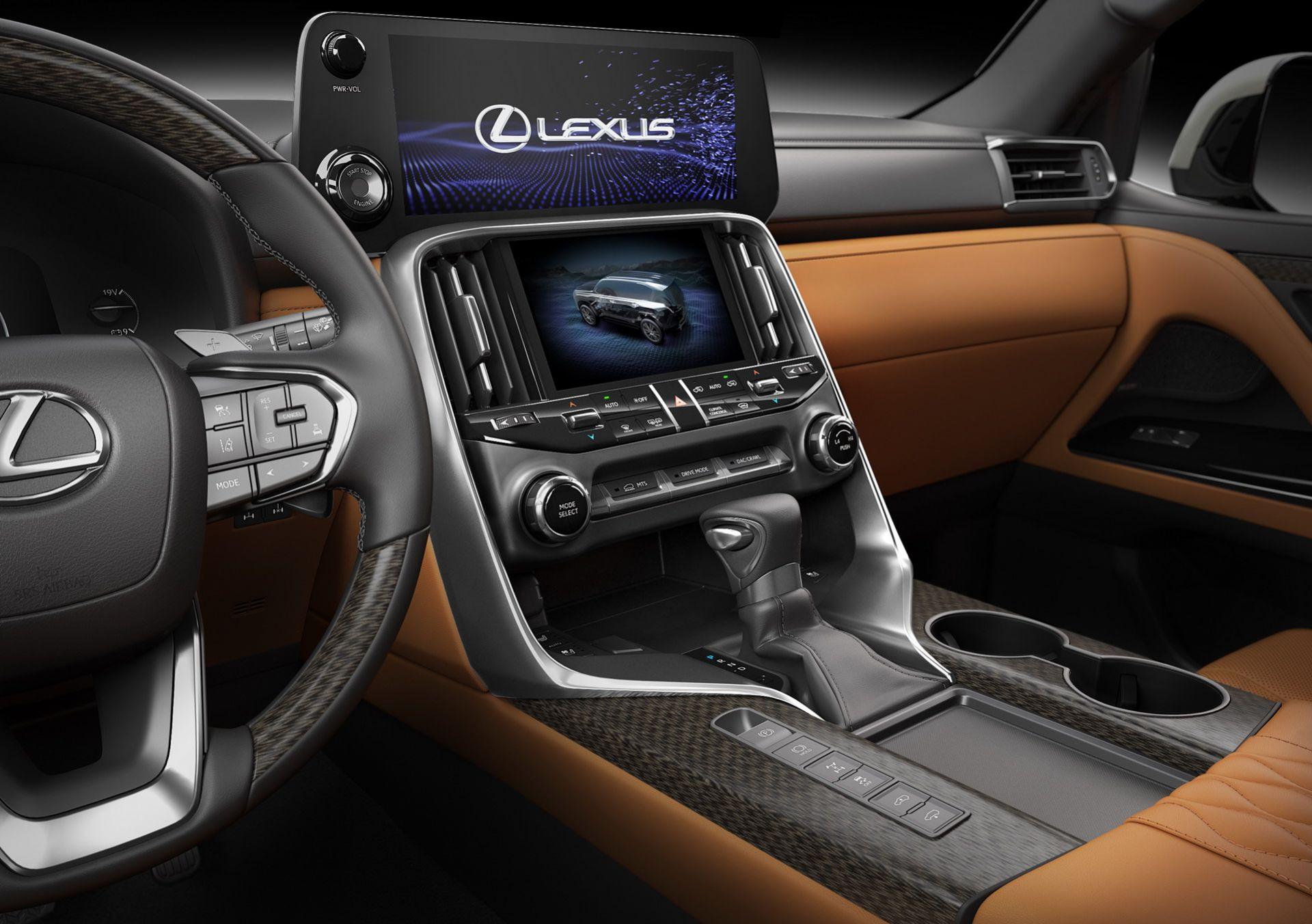 Khu vưc điều khiển trung tâm của xe LX 600